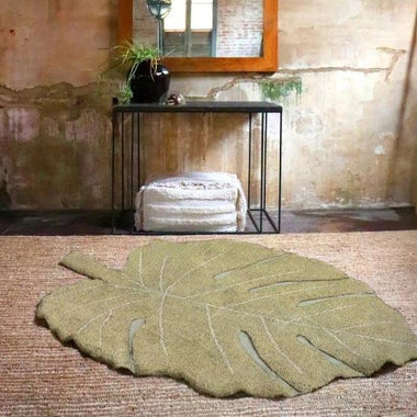 Lorena Canals machinewasbaar tapijt 120x180cm Monstera Olive