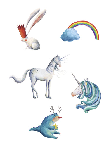 Londji Set van 12 tattoos | Unicorn