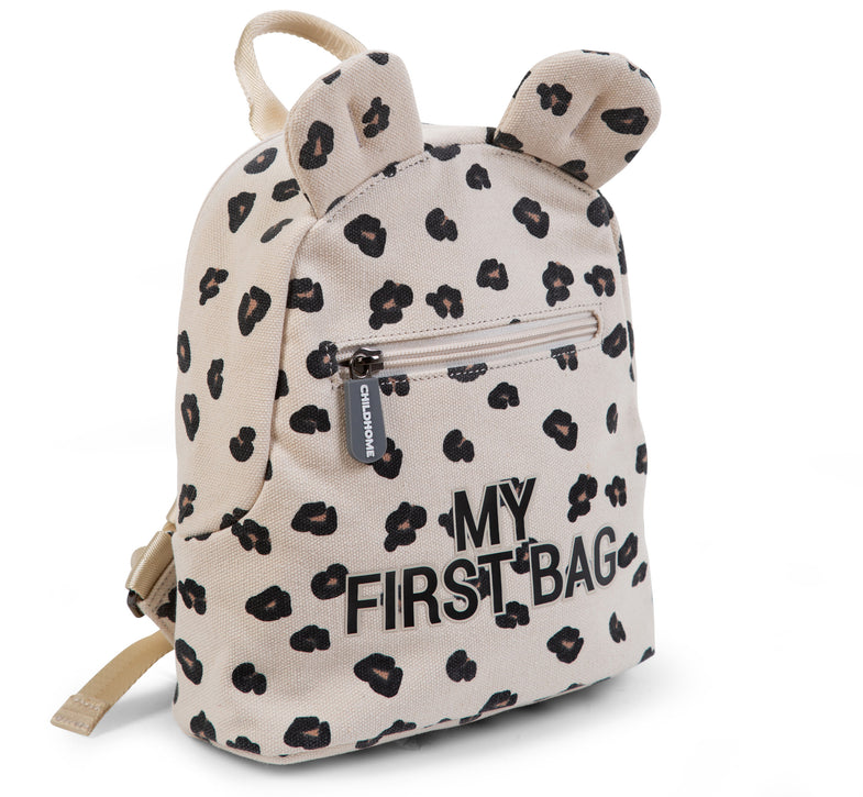 Childhome Rugzakje Kids My First Bag Canvas | Leopard