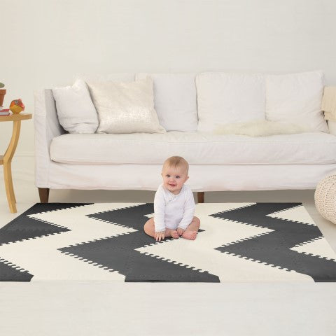 Skip hop speeltapijt Geo black/cream