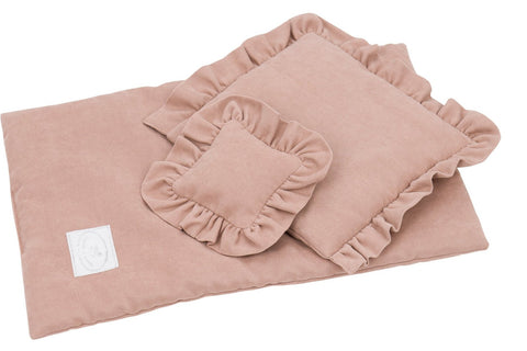 Cotton & Sweets bedset voor poppenbedje Dusty Peach