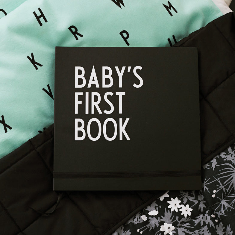 Design letters Baby's first book black - DE GELE FLAMINGO - 1