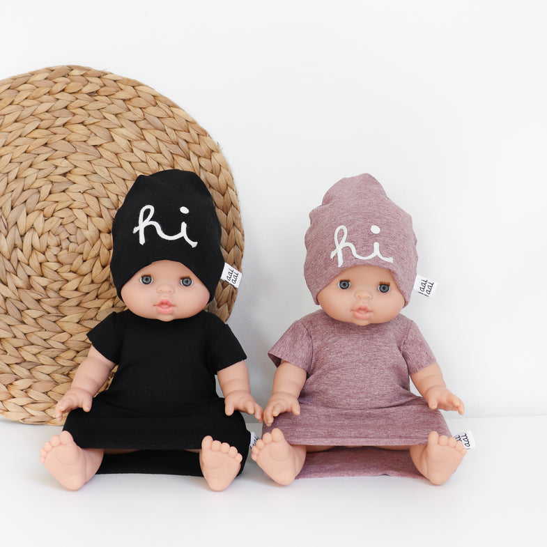 AAI AAI Doll Set Beanie + Dress | Black