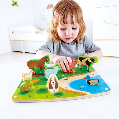 HAPE Houten Puzzle & Play | Farm Animals