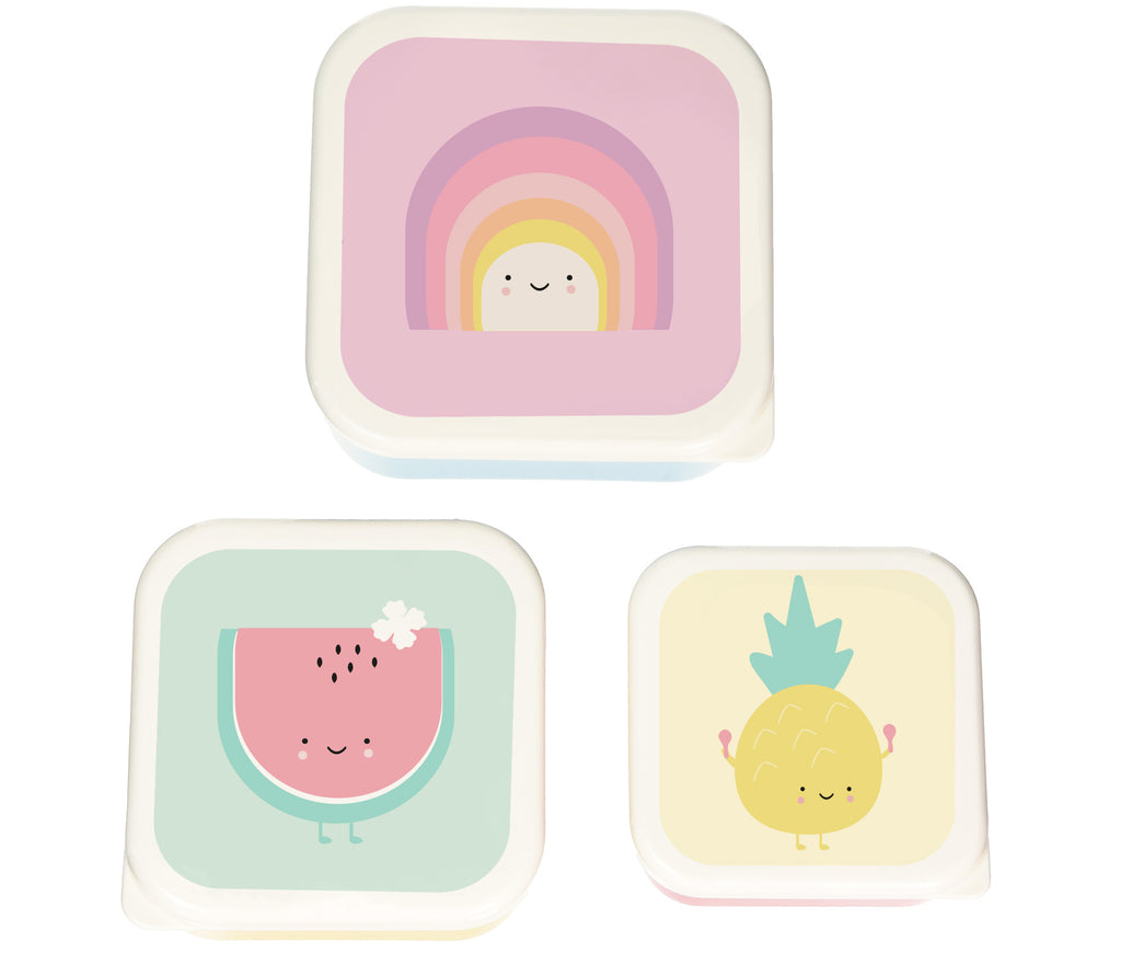 Eef Lillemor Set 3 snackdoosjes | Rainbow