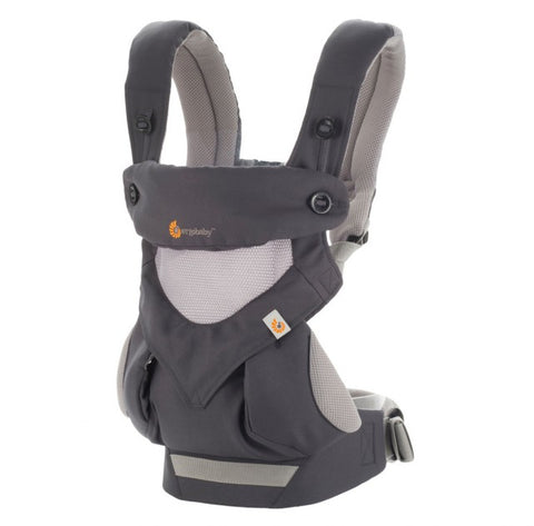 Ergobaby 4 position draagzak 360 Carbon Grey Cool Air Mesh
