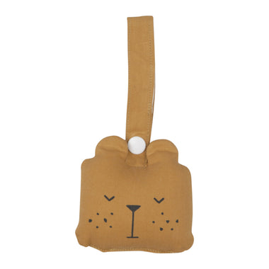 Fabelab Rammelaar Animal rattle Bear - Ochre