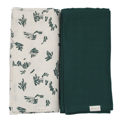 Fabelab Swaddle 2pack 120 x 120 cm | Forest Floor