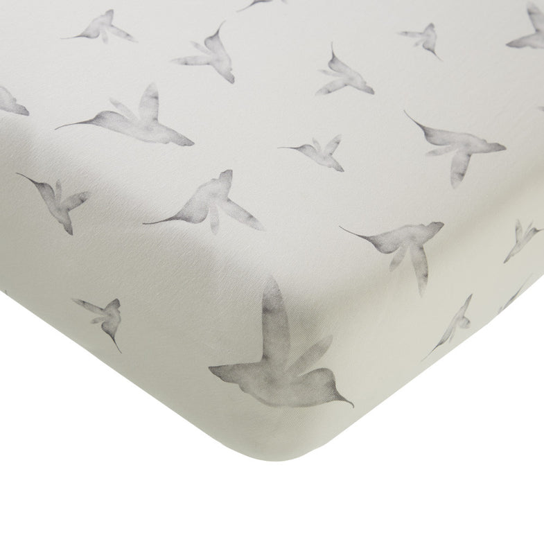 Mies & Co Ledikant hoeslakentje 60x120 Little Dreams - DE GELE FLAMINGO - Kids concept store