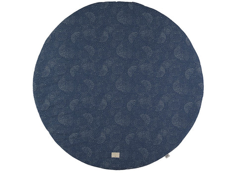 Nobodinoz speeltapijt XL 145cm rond Gold bubble/Night Blue - DE GELE FLAMINGO - Kids concept store