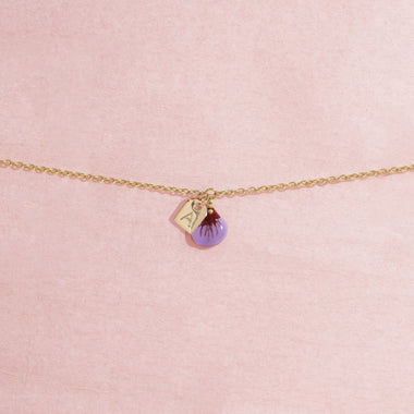 Galore Gepersonaliseerde Armband Part Of Me | Gold & Violet Petite