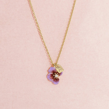 Galore Gepersonaliseerde Ketting Part Of Me | Gold & Violet Baby