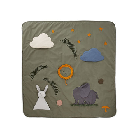 Liewood Glenn Activity Blanket | Faune Green
