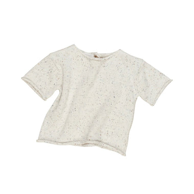 Huxbaby Knit Tee | Cream Sprinkles