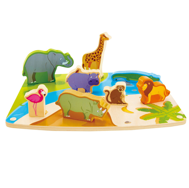 HAPE Houten Puzzle & Play Wild Animals