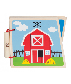 HAPE Houten boekje At the farm - DE GELE FLAMINGO - Kids concept store