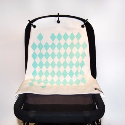 Kurtis pram curtain Diamond mint - DE GELE FLAMINGO - Kids concept store