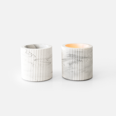 House Raccoon Morgan Theelichthouder | White Marble