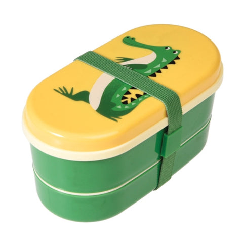 Bento box Crocodile - DE GELE FLAMINGO - Kids concept store