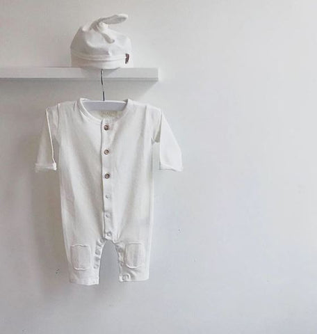 Nixnut Butt Onesie | Off White