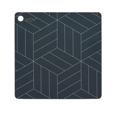 OYOY Siliconen Set 2 Placemats Mado | Dark Grey