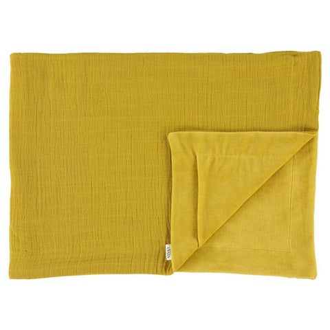 Les Rêves d'Anais Fleece dekentje 100x150cm Bliss | Mustard