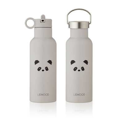 Liewood Neo Thermische Drinkfles 500ml | Panda Light Grey