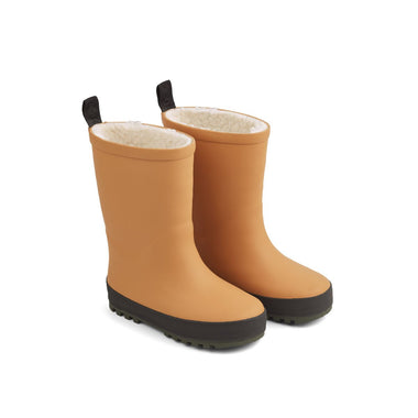 Liewood Mason Thermo Rain Boot | Mustard/ Black Mix