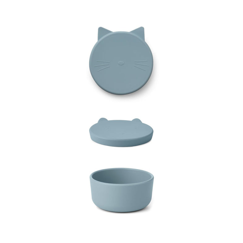 Liewood Cornelius Snack Box | Cat Sea Blue