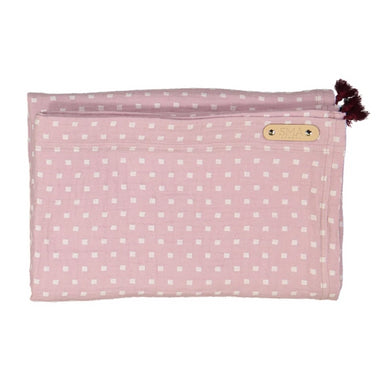 SMÅ Sweden Swaddle deken 120x120cm - Heather Pink