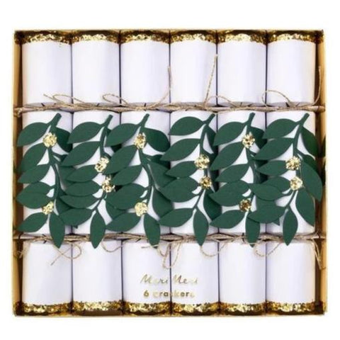 Meri Meri Set 6 Crackers Festive Foliage