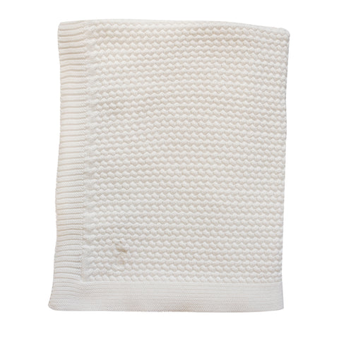 Mies & co Soft Knitted Blanket  80x100cm Off White