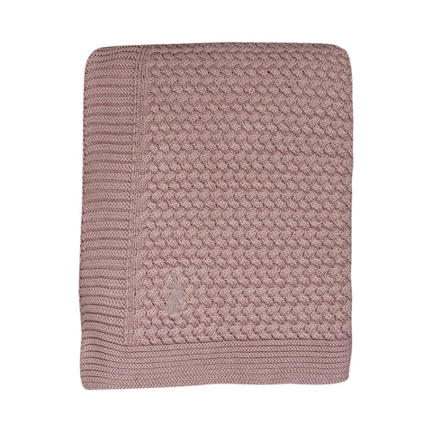 Mies & co Soft Knitted Blanket 80x100cm Pale Pink