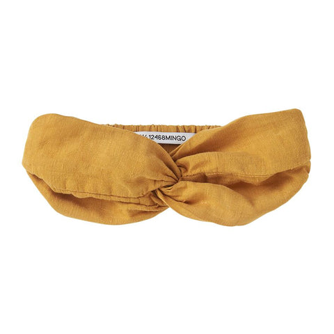 Mingo Linen Headband | Spruce Yellow