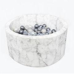 Misioo ballenbad XL rond velours/marble - PRE ORDER levering 05/07