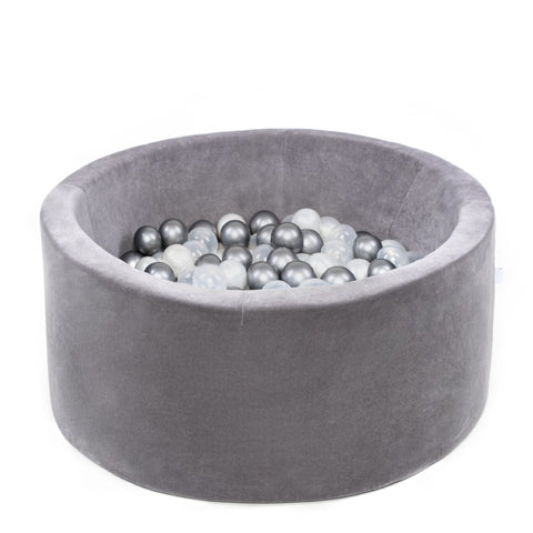 Misioo ballenbad XL rond velours/grey - PRE ORDER levering 28/02