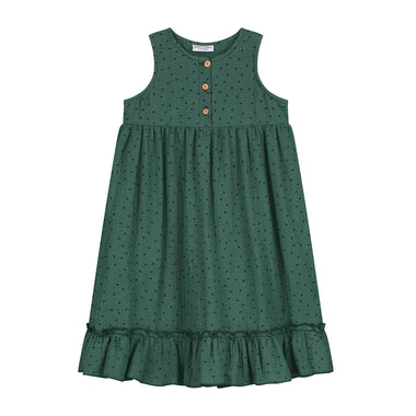 Daily Brat Moon Polka Dress | Juniper Green