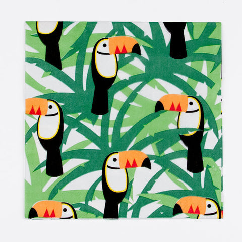 Set 20 papieren servetten Toucan