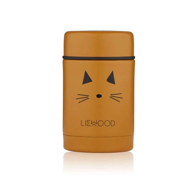 Liewood Nadja Food Jar | Cat Mustard
