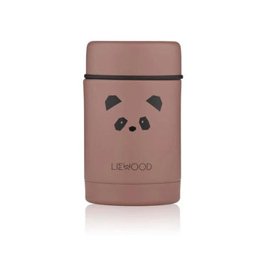 Liewood Nadja Food Jar | Panda Dark Rose