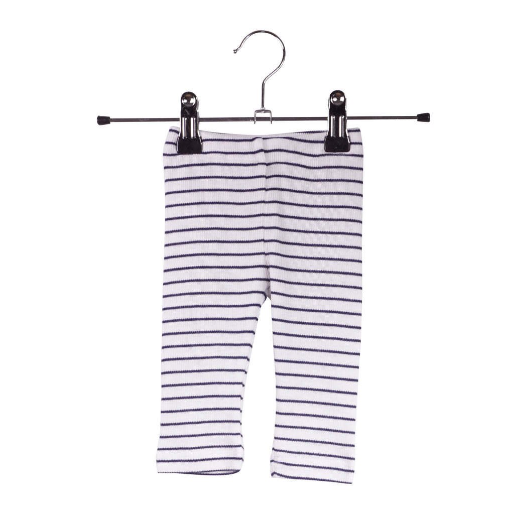 Krutter Rib Legging | Striped Navy