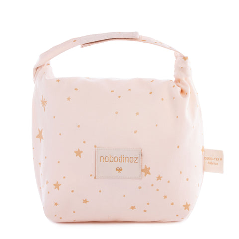 Nobodinoz Lunchtasje | Gold Stella Dream Pink