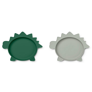Liewood Olivia Bord 2 Pack | Dino Garden Green/ Dove Blue Mix