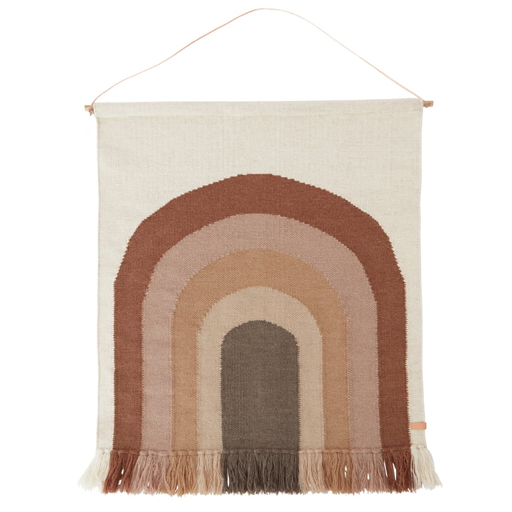 OYOY Living Follow The Rainbow Wall Rug Autumn Choko
