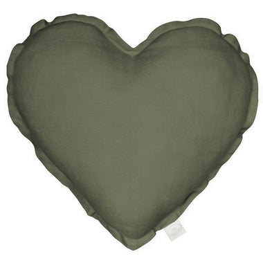 Cotton & Sweets Kussen heart | Olive