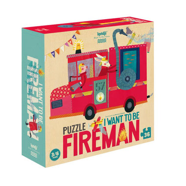 Londji Puzzel 36 stukken | I want to be...Fireman