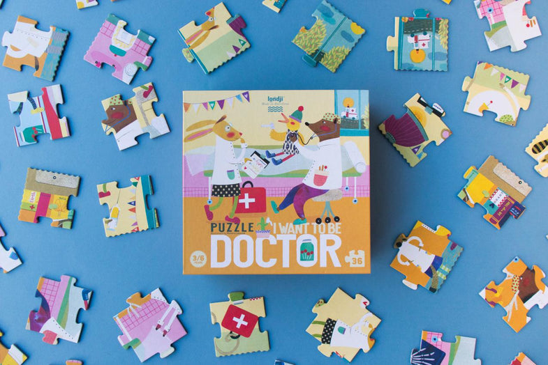 Londji Puzzel 36 stukken | I want to be...Doctor
