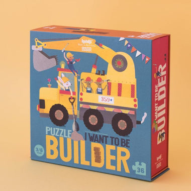 Londji Puzzel 36 stukken | I want to be...Builder