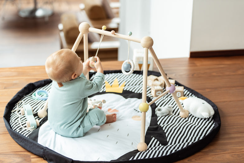 Play and go Opbergzak | zachte baby speelmat Pinguin