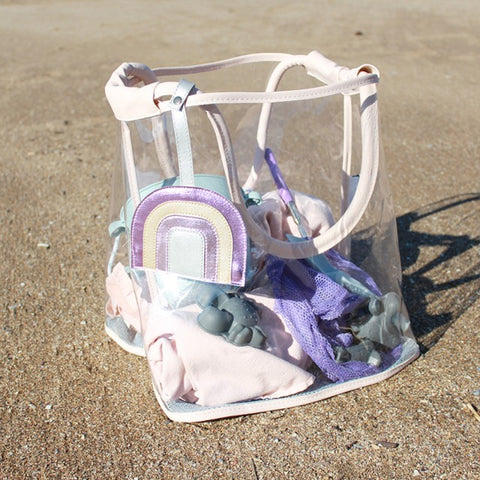 Play And Store Doorzichtige Strandtas - Pink